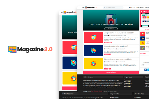 magazine2.0 plantilla blogger gratiis