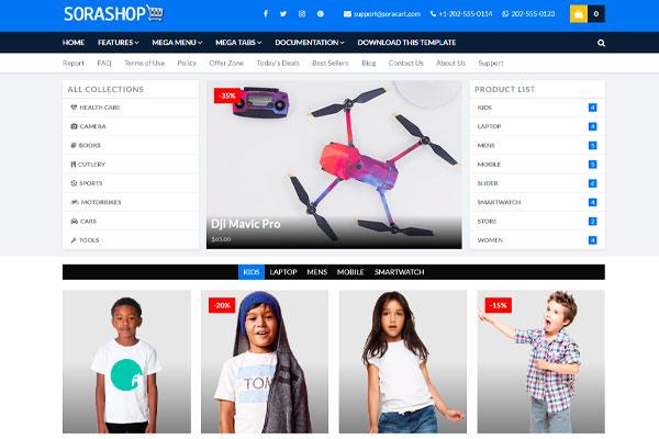 Sora Shop, Plantilla blogger para Tienda Online
